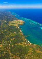 Aerial view of Roatan