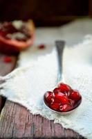 Open fresh ripe pomegranates fruit
