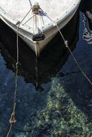 Prow of a traditional mediterranean fishing boat photo