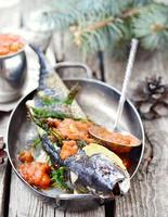 grilled mackerel with tomato sauce