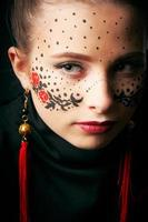 Girl with face-art