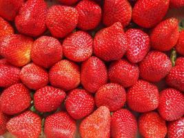 Strawberries fruits photo