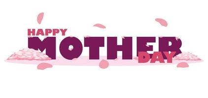 Happy mother day card with petals