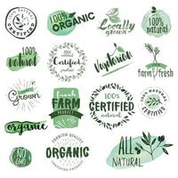 Organic Food Signs vector