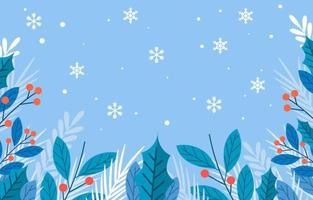 Winter Season Floral Background