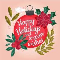 Christmas Festive Bauble Greeting