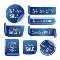 Winter Season Sale Label