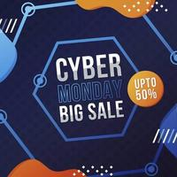 Cyber Monday Sale Hexagonal Abstract Background
