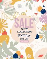 Abstract leaf new sale website banner vector