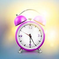 Realistic pink alarm clock