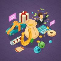 Isometric lottery composition vector