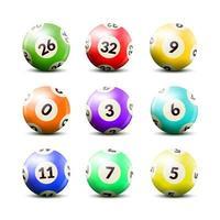 juego de bolas de billar con números vector