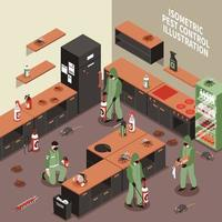 Isometric pest control composition vector