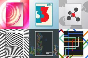 Set of covers with abstract design vector