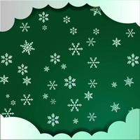 Green cloud and snowflake Christmas design