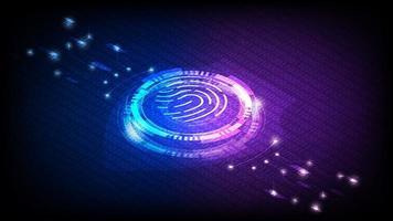 concepto de sensor de identidad de huellas dactilares vector