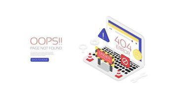404 error page website template design