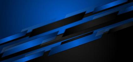 Blue and black angled shapes abstract background vector