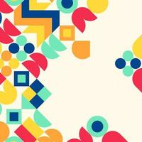 Colourful modern abstract background design vector