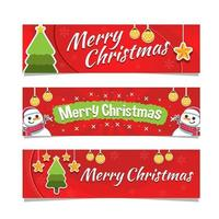 banner alegre del día de navidad vector