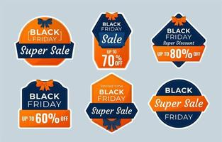 Black Friday Sale Label Collections vector
