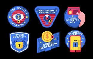 seis cosas importantes sobre la conciencia de la seguridad cibernética vector