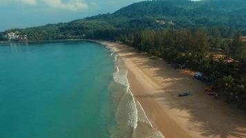 Aerial: Landing on the beach