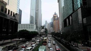 quartier financier, île de hong kong, time lapse video