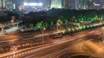 paisaje urbano nocturno de shanghai, distrito financiero de lujiazui