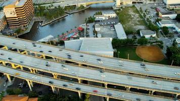 Aerial view Miami Financial district