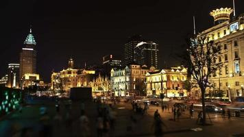 lapso de tiempo de la ciudad de shanghai