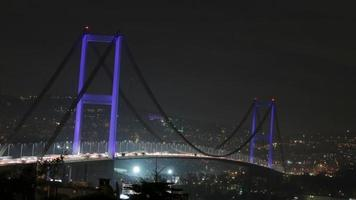 Time-lapse bridge on Bosphorus, Istanbul
