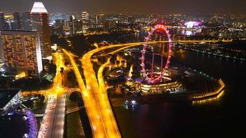 timelapse singapore flyer at singapore city