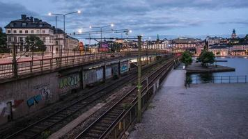 lapso de tempo hd: inclinação da ferrovia urbana