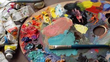 palette d'artiste dans le concept d'art video