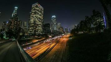 City Traffic Time Lapse LA