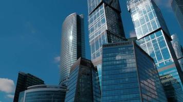 complejo de rascacielos de la ciudad de moscú. lapso de tiempo video