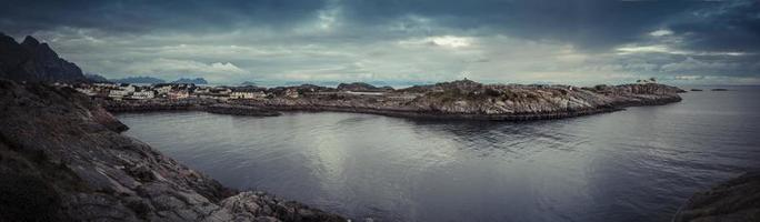 lofoten norway coastline panorama