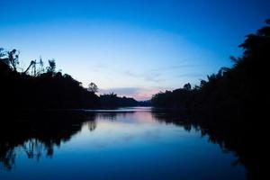 Khwae Noi River in evening photo