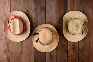 Three Straw Hats photo