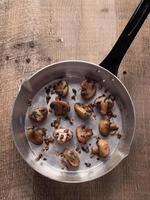 rustic pan sauteed mushroom photo