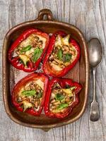 rustic roasted bell pepper photo