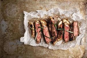rustic cut juicy barbecue grilled steak