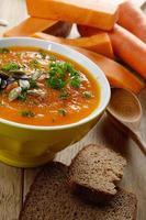 Homemade rustic pumpkin soup photo
