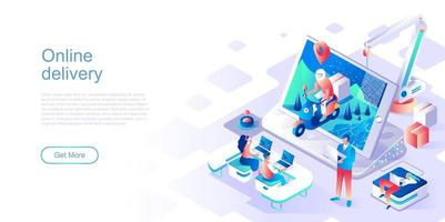 Online delivery landing page template