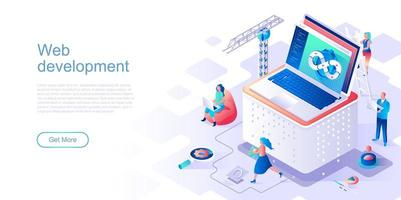 Web development landing page template