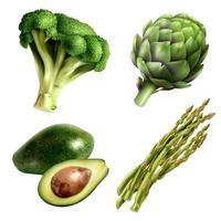 Realistic vegetables set vector