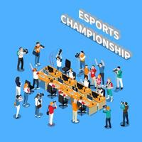 Isometric esports and cyber games tournament