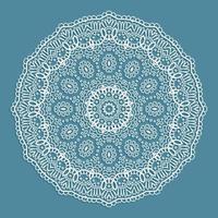 Decorative lace doily design vector