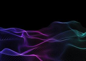 Flowing particles background vector